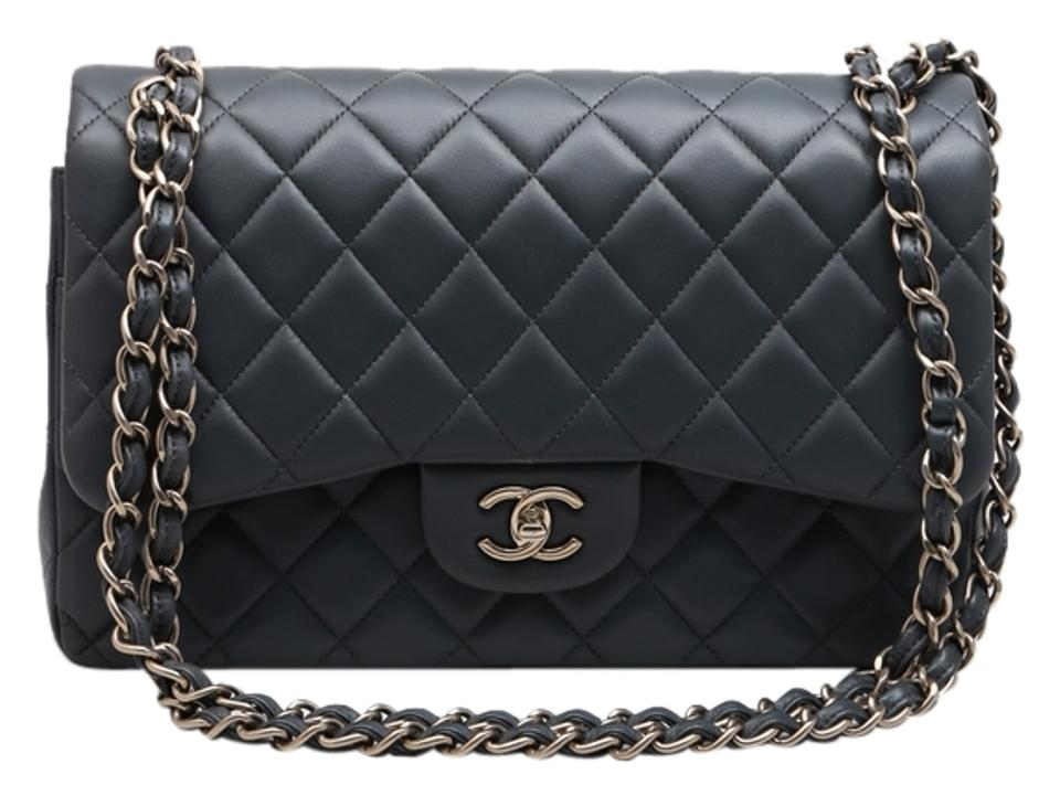 826190424fa6 Chanel Maxi Lambskin Leather Silver Silver Hardware Fashionphile Large Double  Flap Double Shoulder Bag Image 0 ...