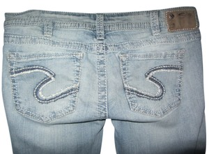Silver Jeans Co. Flare Leg Jeans-Distressed