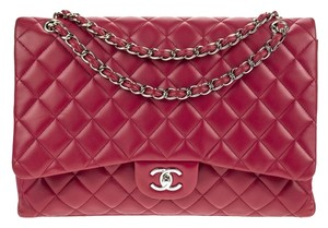 Chanel Lambskin Maxi Single Flap Shoulder Bag