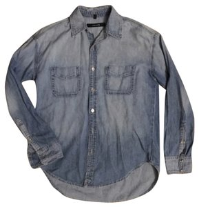 J Brand Button Down Shirt Chambray