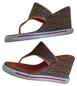 Coach Brown Wedges