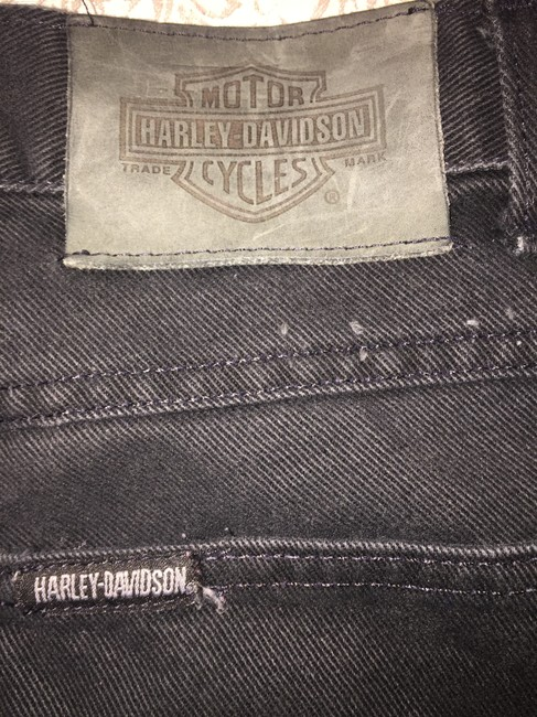 Harley Davidson Denim Blue Boot Cut Boot Leather Leather Pants Pants Skinny Leather Jackets Biker Motorcycle Straight Leg Jeans-Dark Rinse