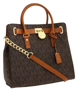 Michael Kors Saffiano Leather Tote in Brown