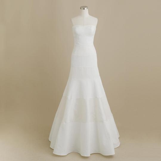 J.Crew Ivory Panels Of Satin Organza and Italian Pique Faye Formal Wedding Dress Size 2 (XS)