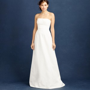 J.Crew Ivory Cotton Cady Miranda Feminine Wedding Dress Size 4 (S)