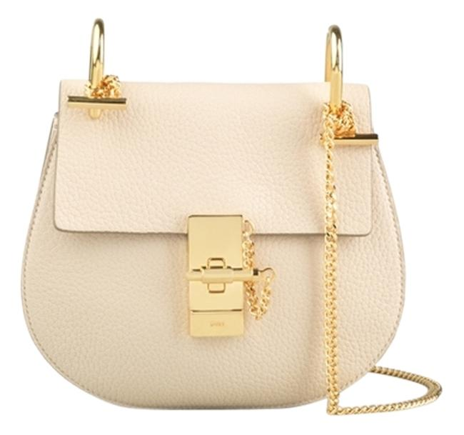 Item - Drew Abstract White Leather Shoulder Bag