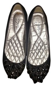 Tory Klein Beaded Comfy Dressy Black Flats