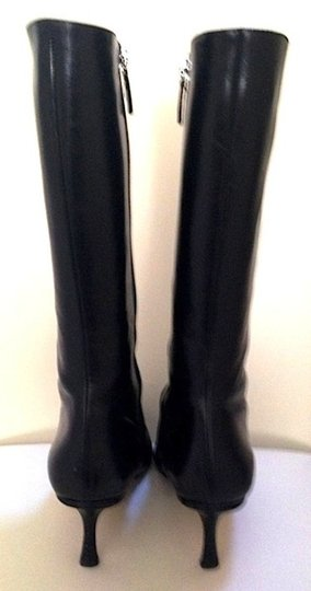 Jimmy Choo Midcalf Leather Classic Black Boots