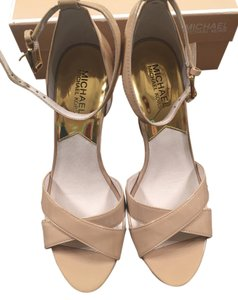 Michael Kors Nude and Cork soles Platforms