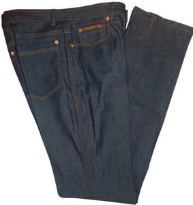 Gucci Denim Straight Leg Jeans-Dark Rinse