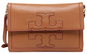 Tory Burch Luggage tan brown natural Messenger Bag