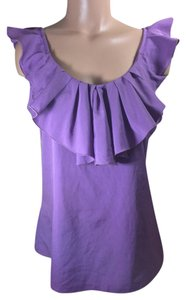 Banana Republic Ruffle Top Purple