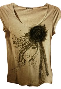 One Clothing T Shirt dark brown and white