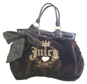 Juicy Couture Hand Purse Velvet New Like New Satchel in Brown