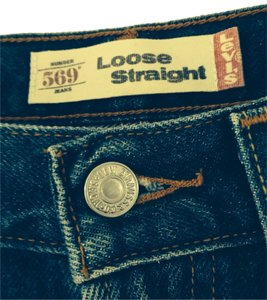 Levi's Straight Pants Blue jeans