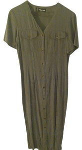 Halston short dress Olive Green on Tradesy