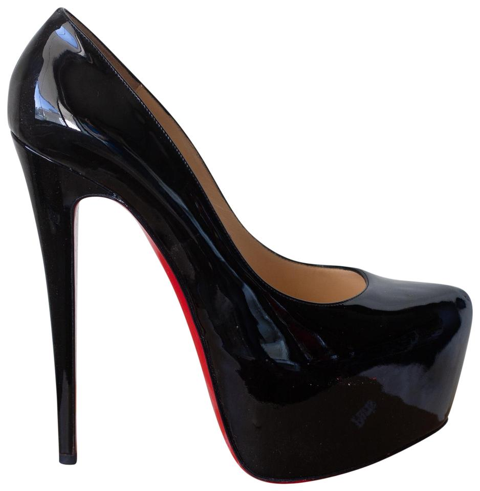 72bd08c05cb Christian Louboutin Black Daffodile Patent Leather Platform Pumps ...