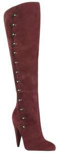 Betsey Johnson Suede Burgundy Over-the-knee High-heel Oxblood Boots