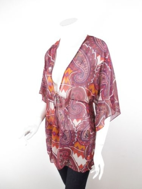 Preload https://item4.tradesy.com/images/cabi-841-purple-orange-epic-tunic-paisley-chevron-tribal-kimono-blouse-s-10326043-0-0.jpg?width=400&height=650