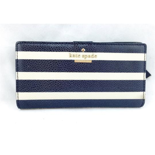 Kate Spade Kate Spade Navy Striped Stacy Wallet New With Tags Image 5