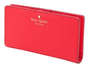 Kate Spade Kate Spade Red Leather Stacy Wallet New With Tags