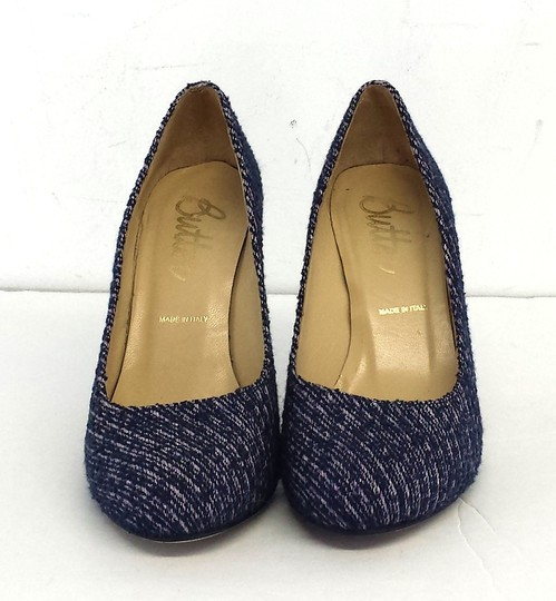 Butter Blue Purple Tweed Pumps