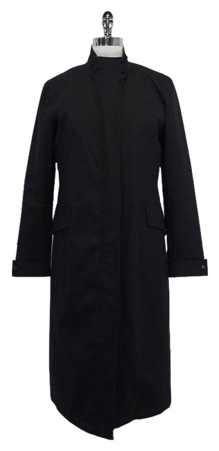 Ralph Lauren Black Trench Vegan Lining Fur Coat