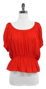 Joie Red Silk Top
