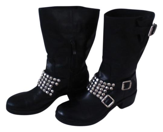 Preload https://img-static.tradesy.com/item/10327246/bcbgeneration-black-leather-with-silver-stud-and-buckle-detail-bootsbooties-size-us-65-regular-m-b-0-1-540-540.jpg