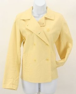 Eileen Fisher Pm Double Breasted B337 Yellow Jacket