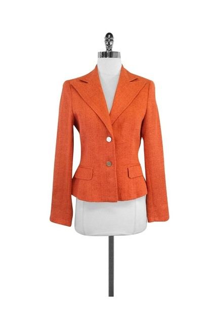 Preload https://item4.tradesy.com/images/dolce-and-gabbana-orange-blazer-size-2-xs-10327663-0-2.jpg?width=400&height=650