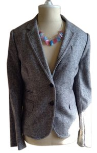 J.Crew J. Crew Women's Gray Tweed Suit Blazer Jacket