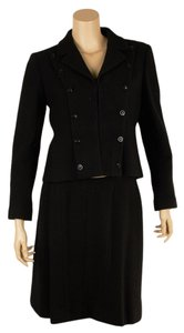 Chanel Chanel Black Wool 3-Piece Suit, Size 40 (68874)