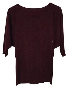 New York & Company Top Burgundy