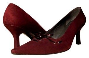 Stuart Weitzman Suede Made In Spain Heels Merlot Burgundy Pumps