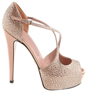 Gucci Ringstones 326705 Antique Rose Crystal Jewelred Pink Pumps