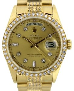 Rolex MEN'S ROLEX DAY-DATE 18K GOLD PRESIDENT 5.5 CTDIAMOND WATCH