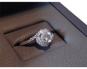 Tolkowski Halo Round Cut Engagement Ring
