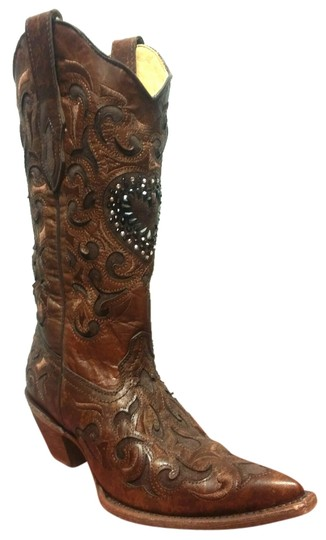 Preload https://item2.tradesy.com/images/corral-boots-brown-chocolate-bootsbooties-size-us-7-regular-m-b-10328536-0-1.jpg?width=440&height=440