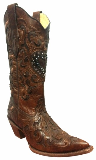 Preload https://item1.tradesy.com/images/corral-boots-brown-chocolate-bootsbooties-size-us-85-regular-m-b-10328650-0-1.jpg?width=440&height=440