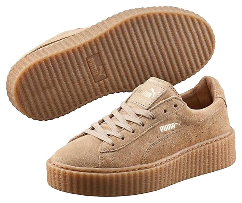 quality design dec4c 25228 Puma Tan Rihanna Suede Creeper Sneakers Size US 9 Regular (M, B)