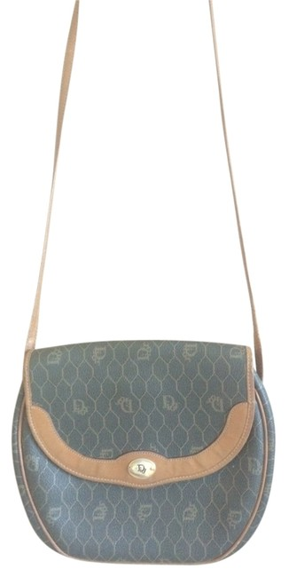 Item - Vintage Grey and Lining Of Brown Leather Cross Body Bag