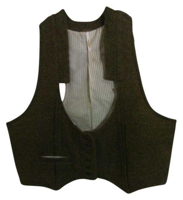 Preload https://item1.tradesy.com/images/free-people-army-green-olive-brown-beige-lambwool-lining-warm-wool-vest-size-12-l-10329205-0-1.jpg?width=400&height=650