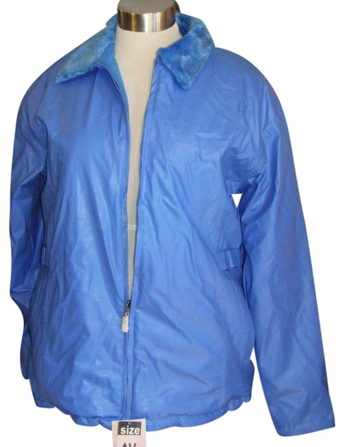 Preload https://img-static.tradesy.com/item/10329454/blue-faux-coat-xl-fleece-lined-waterproof-vinyl-outer-leather-jacket-size-18-xl-plus-0x-0-1-650-650.jpg