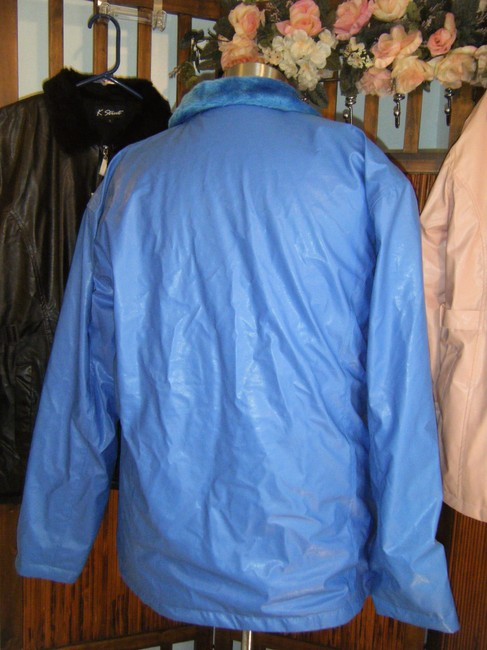Kenpro Blue Faux leather Leather Jacket