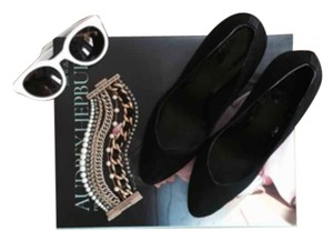 Brian Atwood Black Wedges