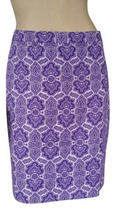J.Crew Pencil Paisley Medallion Skirt Purple