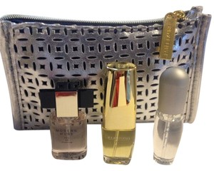 Estée Lauder Hi...Up for Sale is a 4 piece Estee Lauder MINI Perfume Set. What you will receive is... Modern Muse EDP Spray, 0.14 oz / 4 ml Beautiful EDP Spray, 0.16 oz / 4.7 ml Pleasures EDP Spray, 0.14 oz / 4 ml Sliver Cosmetic Bag, 6 x 3.75 x 2 inches