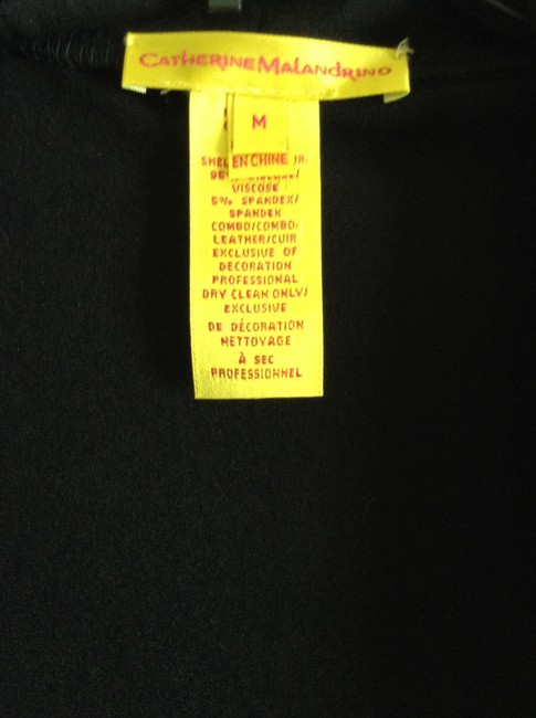 """Catherine Malandrino New And Unworn Without Tag Length: 25"""" Width: 15.5"""" Stretchy Fabric Material: 95% Viscose 5% Spandex Couture Yellow Top Black"""