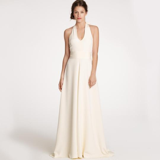 J.Crew Ivory Silk Tricotine Allegra Destination Wedding Dress Size Petite 4 (S)